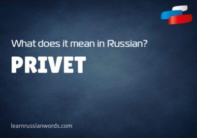 Privet - Meaning