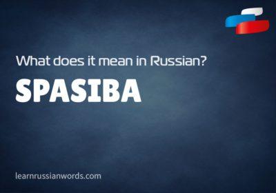 Spasiba - Meaning