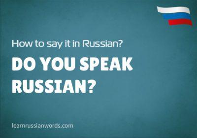 Do you speak Russian? in Russian